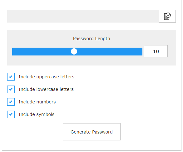 jQuery Password Generator - 1